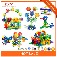 2015 Hot selling construction plastic flower building blocks with discount