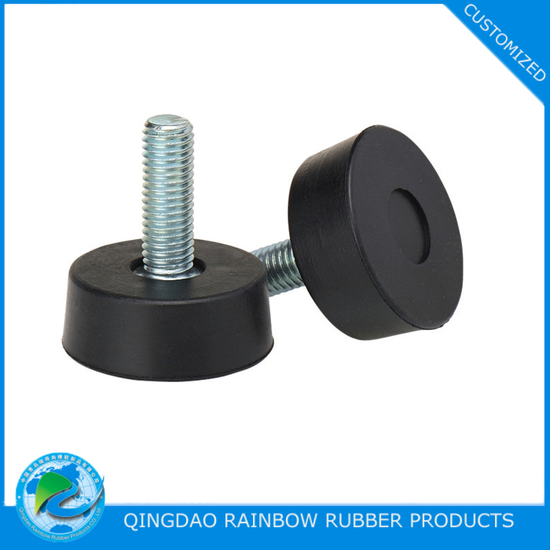 Custom Molded Rubber Feet With Screw