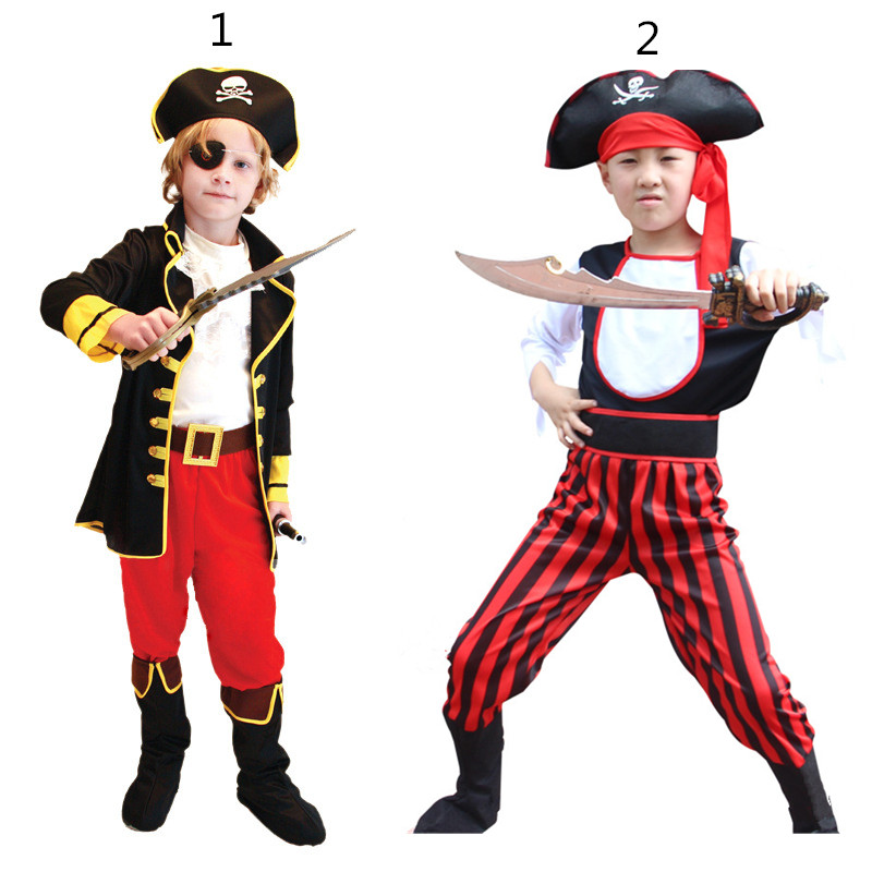 cosplay kids halloween costume pirate costumes boy
