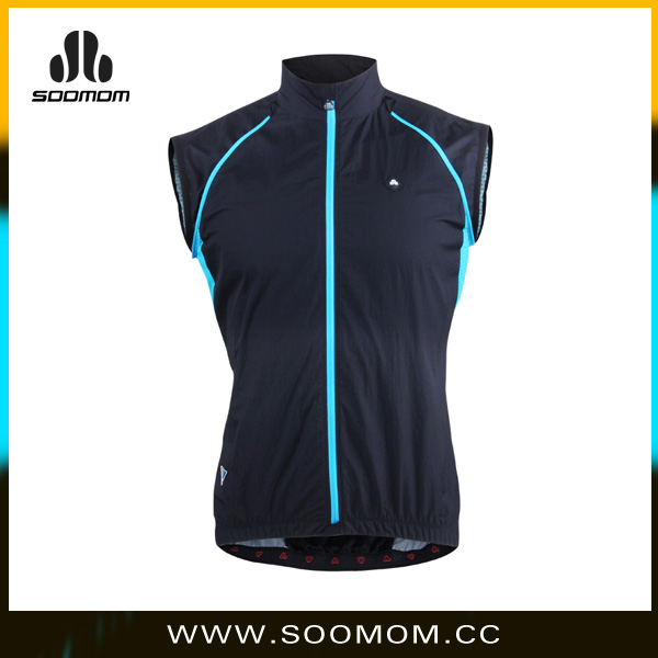 European Sleeve Removable Cycling Jersey Winter Windproof Vest
