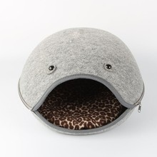 fancy cute lovely Wool felt cat house/bed