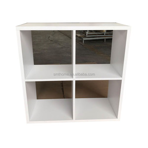 Wooden 4-Tier Bookcase Book Shelf Display Storage Shelf with 8 Compartments White