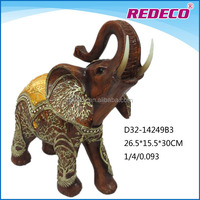 Resin elephant figurine for home decoration
