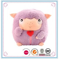 Promotional cute sheep shaped soft plush pillows