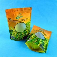 colorful printing zip lock plastic empty tea bag with gusset