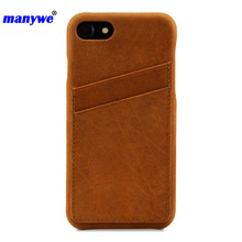 New brand manywe phone case wallet for iphone 6 case pu back cover card slot wholesale