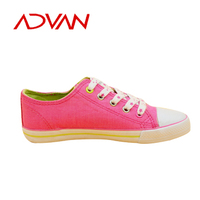 2013 New Style Casual Canvas Girls Shoes Lace-Up Shoes With Vulcanized Technic