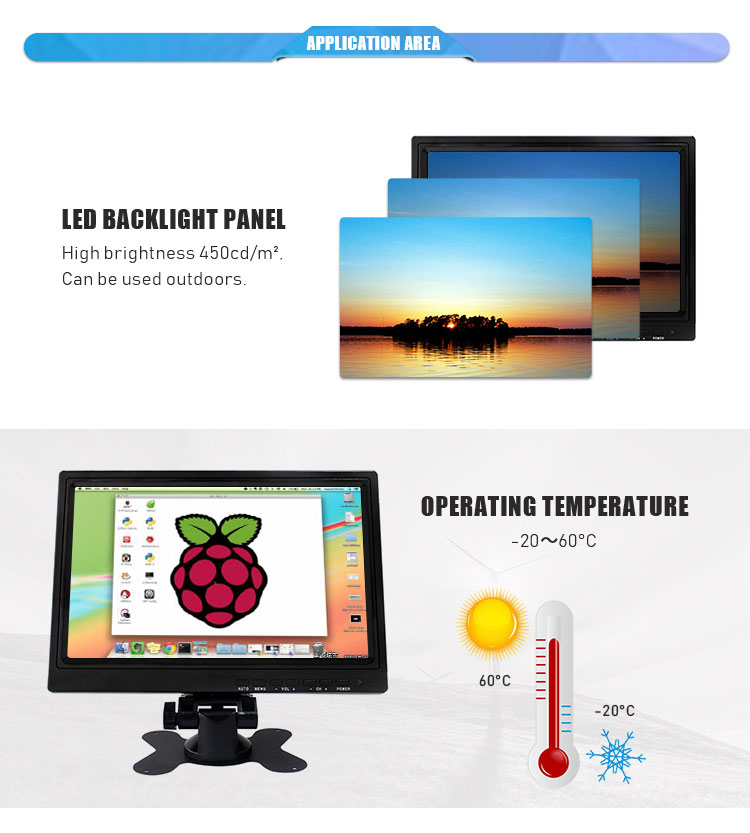 10-Zoll-LCD-USB-Touchscreen-Monitor 10,4 Zoll-TFT-LED-resistiver Touchscreen-Monitor