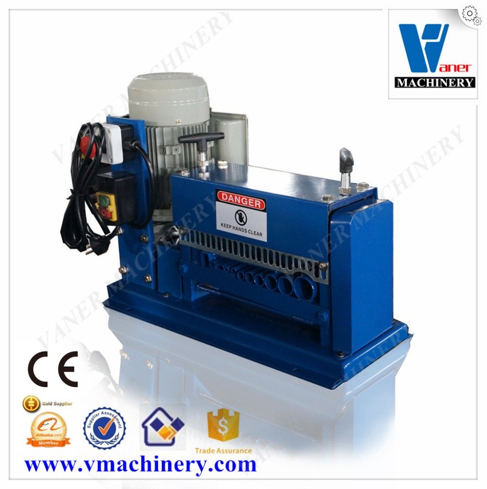 V-038M scrap electric power cord stripping recycling machinery