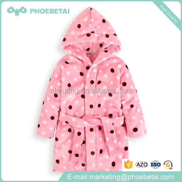 Wholesale super soft luxury custom logo coral fleece spa child bath robes for kids