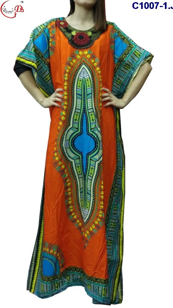 C1007 2016 newest popular loose comfortable colorful special pattern long dress, soft material,African women's dashiki dress