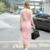 2018 Nixiya New DesignLadies Fashion Pink Casual Lace Crochet Party Dress