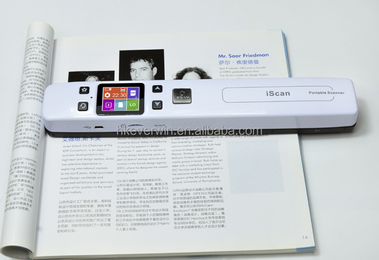 WIFI Handy scanner Cordless Portable Colour Scanner For Scanning Of Any Document