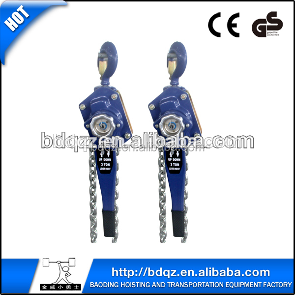 HSH type manual Lever lifting chain block/ hand operated pull lift lever chain hoist with CE certification