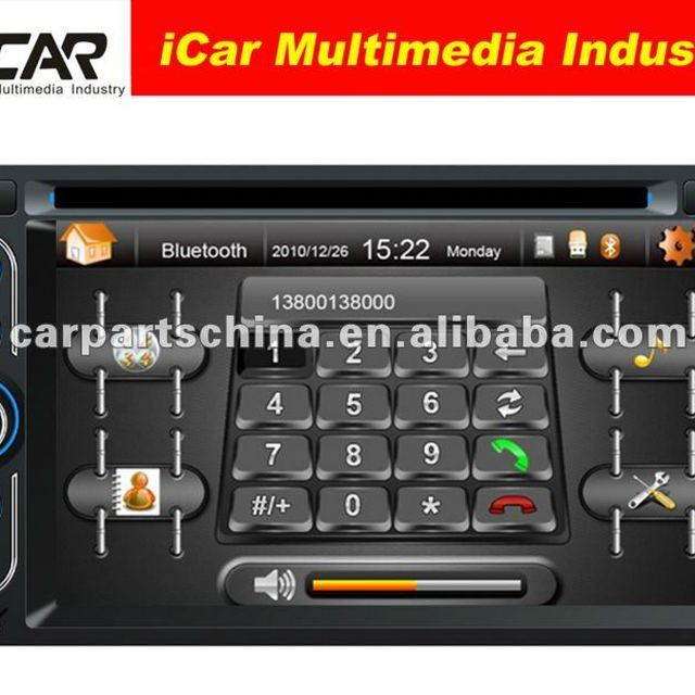 (iCar-6218)HOT Double Din 6.2'' touch screen,GPS,Bluetooth,TV,IPod car dvd player