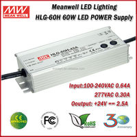 Meanwell HLG-60H-24 Single Output 60w 24v LED Power Supply and Constant Current LED Power Supply and UL LED Power Supply