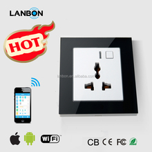 Lanbon wall socket smart home automation mobile phone control Wifi electric socket