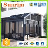 all kinds customized aluminium frame glass plastic sunroom