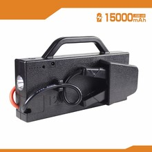 Hand- carrying15000mAh Portable Car Jump Starter Battery Booster & Smart Power Bank with12V output and LED Torch flashlight
