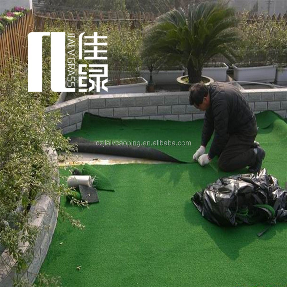 interlocking cheap artificial grass tile green grass carpet in germani