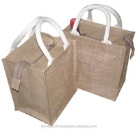 Ecofriendly Jute Lunch Tiffin Tote Bag india china alibaba