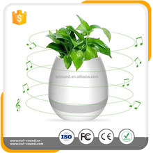 Hot plant mini portable speaker,smart music wireless speaker with LED Light Touch Control