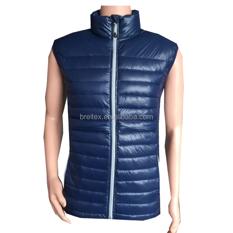 High Quality Winter Padding Quilted Mens Winter Padded Vest