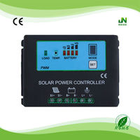home solar system controller 30a 12/24v solar regulator 30a 24v solar panel controller with CE ROHS power display
