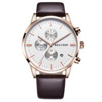 Fashion vintage 30m waterproof calendar luminous chronograph quartz men watches