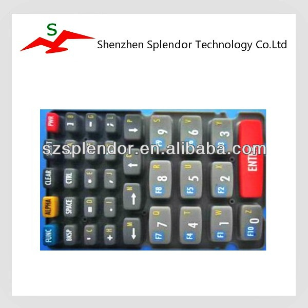 China Supplier mobile remote custom made silicone cap button rubber keypad