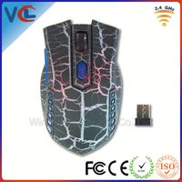 Unique Led Light Optical Wireless Mouse