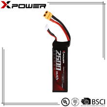 High discharge rate Li-po battery 11.1v 3S 2600mAh 30C burst 60C for electric toys rc car
