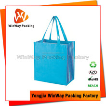 Reusable Cheap Logo Plastic Woven Shopping Bag