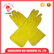 Dipped Flock Lining Kitchen Cleaning Latex Household Gloves