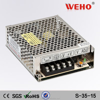 2015 weho single output 15v led power supply 35 watt 15 volt power supply