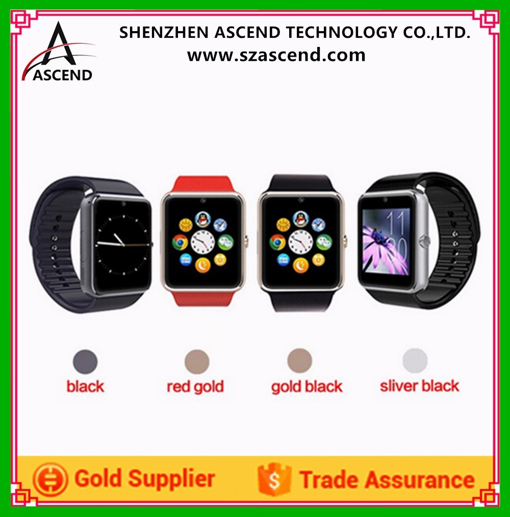 Touch Screen Smartwatch Phone Smart Watch GT08 with SIM Card vs DZ09 Smart Watch with MTK6261 CPU, Camera