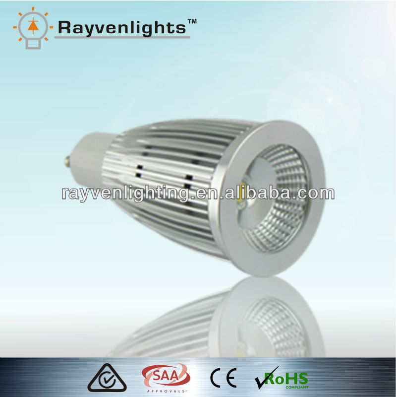 SAA CE C-Tick approval 7w gu10 led lamp