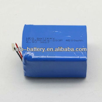 6.4V 4500Ah LiFePO4 Rechargeable Batteries For E-Bike Light RoHS/CE/UL safety