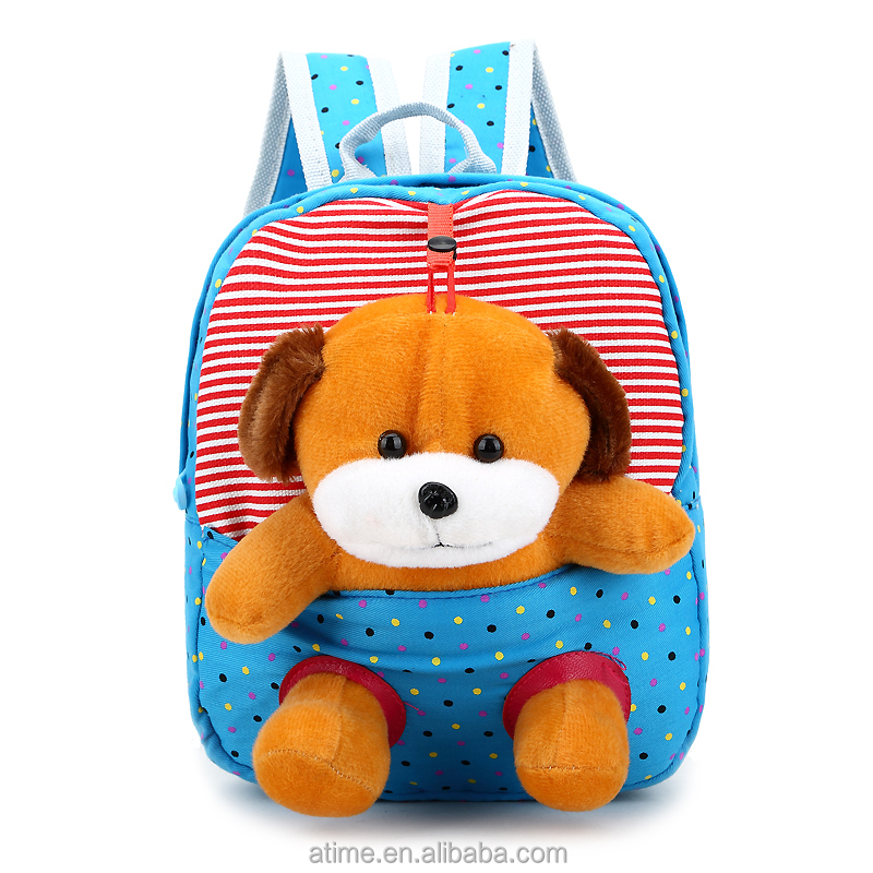 Loverly pupils animal backpack with plush toy best school bags for kids children