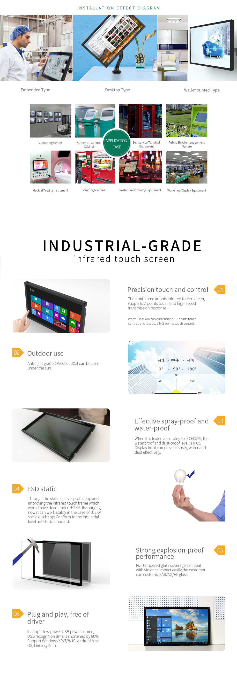 [TMDtouch]Cheap Touch Screen Monitor,27 inch Monitor Touch Screen for Industrial Environment