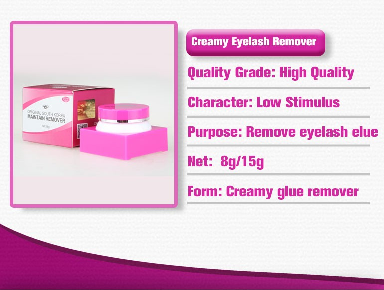 Hypoallergenic Cream Glue Remover For Eyelash Extension
