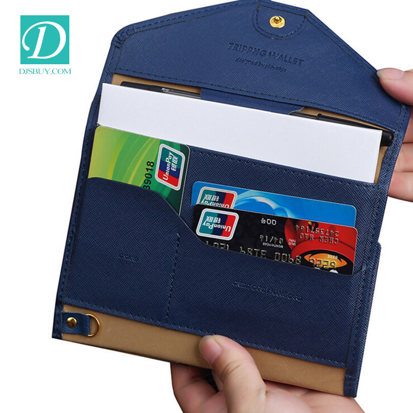 Top Quality Leather Wristlet Women Wallet Female Brand Purse Holder Passport Lady Business Purse