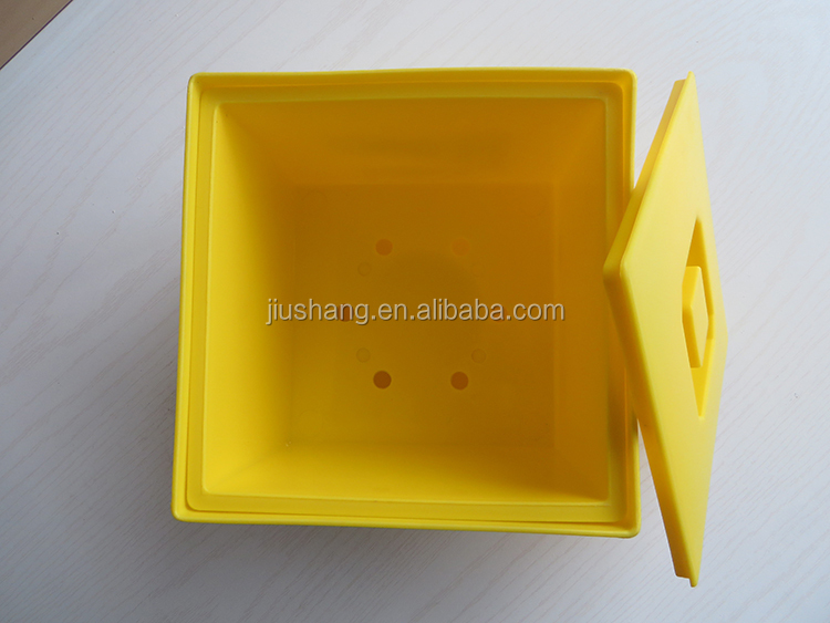 Hot sale ps plastic squared beer ice bucket with lid