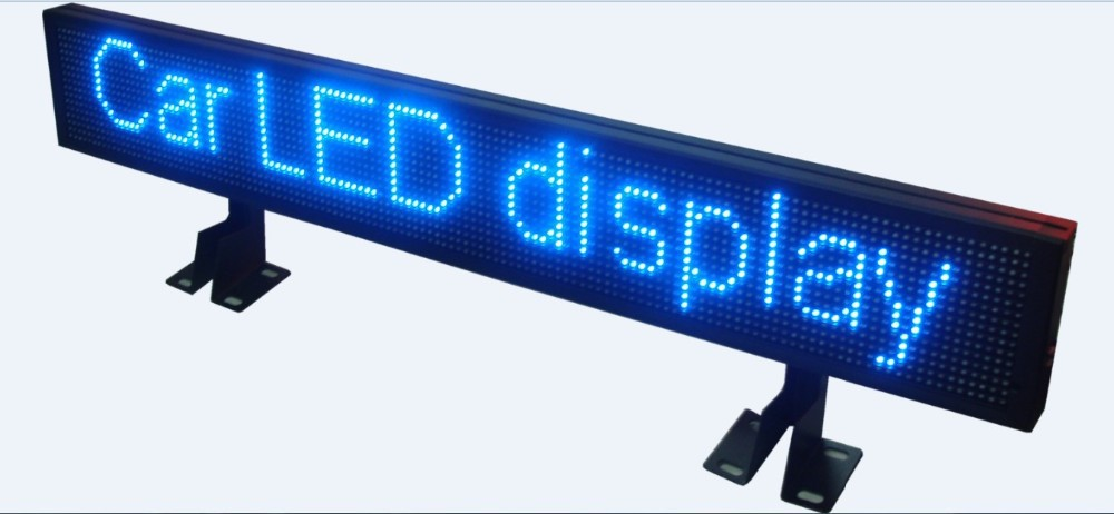 Programmable outdoor car roof advertising led scrolling message board