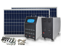 mini 500w solar energy lighting kits use for home