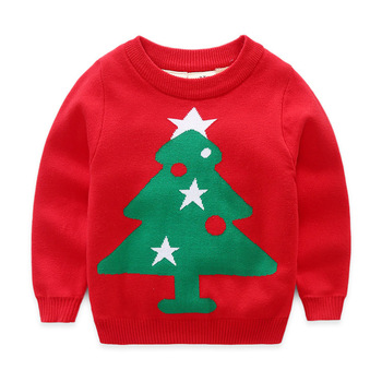 B40697A 2017 fashion kids warm clothing boy Christmas tree sweaters