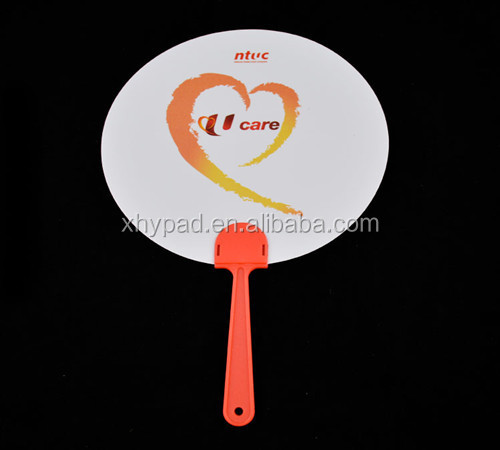 promotional plastic white hand fan
