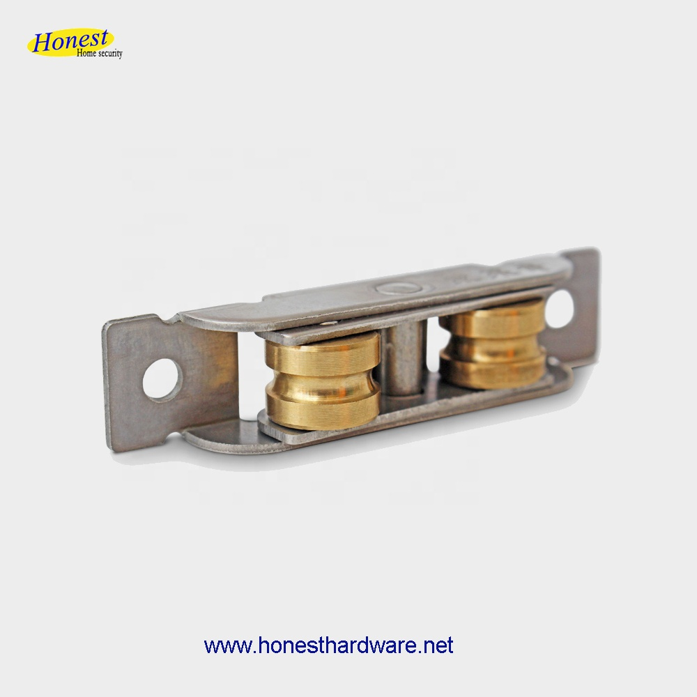 High qualiy double brass  grooved  window wheel  window roller wheel sliding window wheel