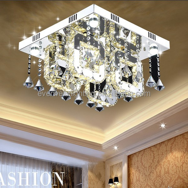 crystal light fixture of ceiling