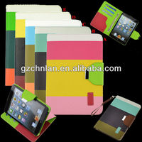 Crazy selling 4 color wallet leather case for ipad mini 2
